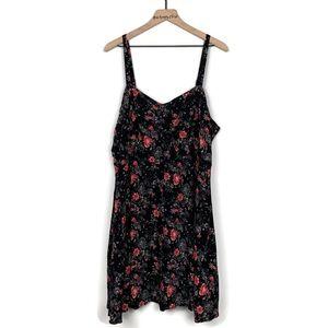 Torrid | Black Floral Print Spaghetti Strap Dress